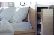 Кровать двуспальная с изголовьем