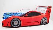 Детская кровать-машина Ferrari красная (РР)