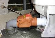 Монтаж обратного клапана канализации