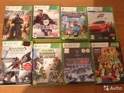 Xbox 360 2012 года с 8 играми и двумя флэшками на 8 гигобайт.