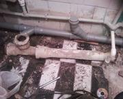 замена канализационных труб в ванной