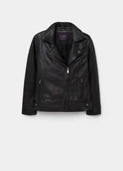 Продам женскую кожаную куртку-косуху черного цвета р.52-54