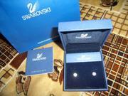 Серьги из белого золота с кристаллами Swarovski